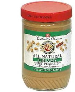 Presidents Choice Peanut Butter All Natural, Creamy, Just Peanuts
