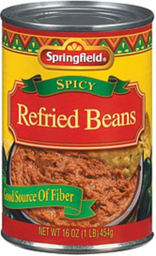 Springfield Spicy Refried Beans - 16 oz