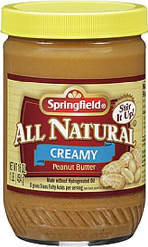 Springfield All Natural Creamy Peanut Butter - 16 oz