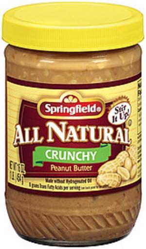 Springfield All Natural Crunchy Peanut Butter - 16 oz