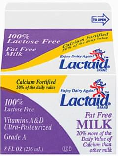 Lactaid Milk 100% Lactose Free Fat Free Calcium Fortified