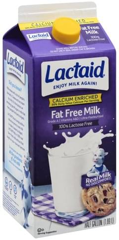 Lactaid Fat Free Milk - 0.5 gl