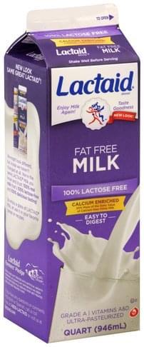 Lactaid Fat Free Milk - 1 QT