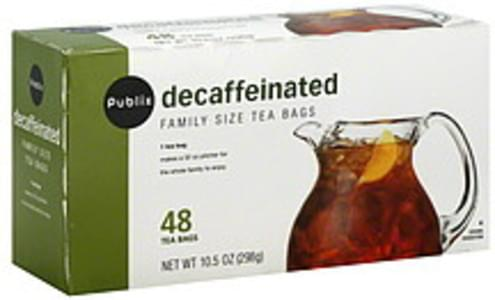 Publix Tea Bags Decaffeinated, Family Size