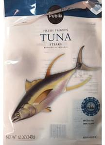 Publix Frozen Tuna Steaks Boneless & Skinless