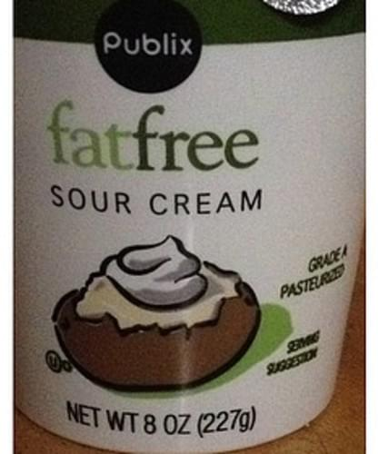 Publix Fat Free Sour Cream - 30 g