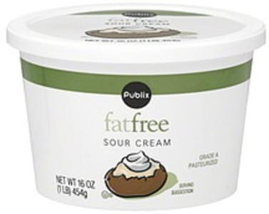 Publix Sour Cream Fat Free