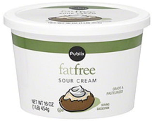 Publix Fat Free Sour Cream - 16 oz