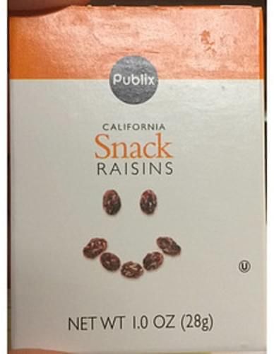Publix California Snack Raisins - 28 g