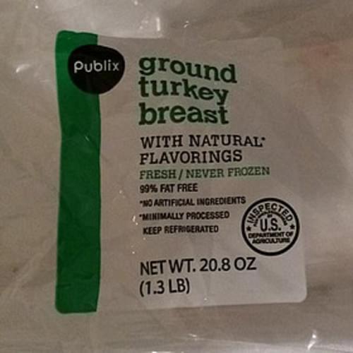 Publix Ground Turkey Breast - 112 g