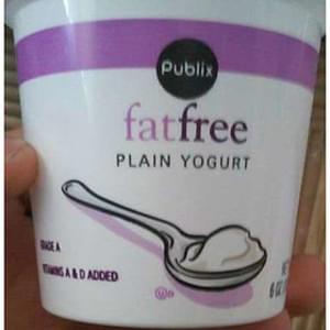 Publix Plain Fat Free Yogurt