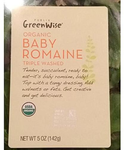 Publix Green Wise Triple Washed Organic Baby Romaine - 85 g