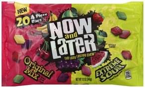 Now & Later Fruit Chews Mixed, Original Mix, Extreme Sour