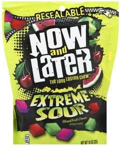 Now & Later Fruit Chews Mixed, Extreme Sour