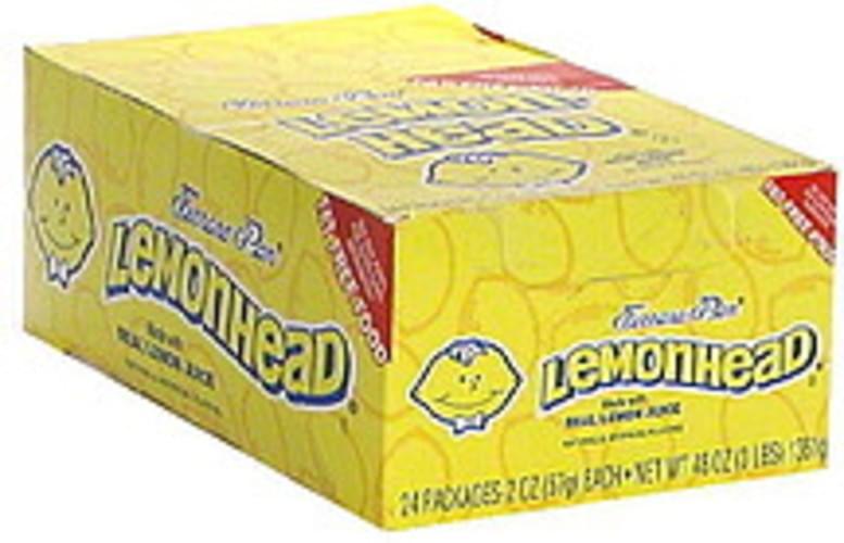 Lemonhead Candy - 24 ea