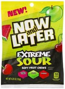 Now & Later Soft Fruit Chews Extreme Sour