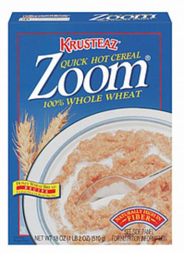 Krusteaz Zoom 100% Whole Wheat Quick Hot Cereal - 18 oz
