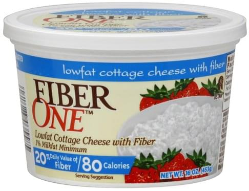 Fiber One Lowfat, with Fiber Cottage Cheese - 16 oz, Nutrition