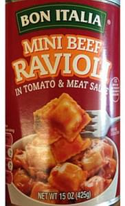 Bon Italia Mini Beef Ravioli in Tomato & Meat Sauce