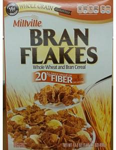 Millville Bran Flakes Whole Wheat and Bran Cereal