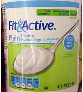 Fit&Active Plain Grade A Nonfat Yogurt