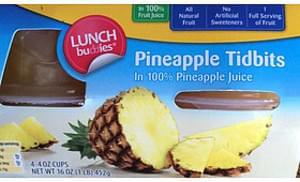 Lunch Buddies Pineapple Tidbits