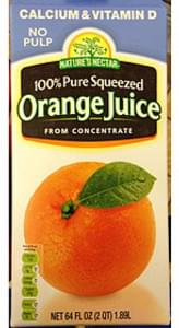 Nature's Nectar Orange Juice from Concentrate