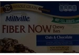Millville Fiber Now Chewy Bars Oats & Chocolate