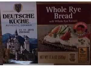 Deutsche Kuche Whole Rye Bread