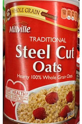 Millville Traditional Steel Cut Oats - 40 g
