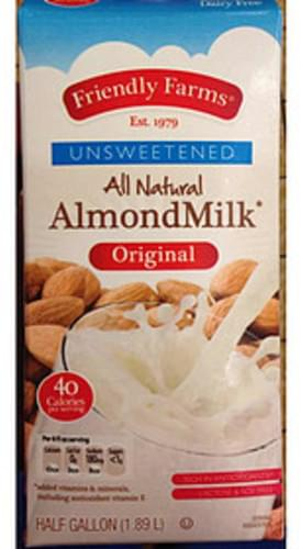 Friendly Farms Original Unsweetened All Natural Almondmilk - 240 ml