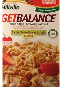 Millville Get Balance Protein & High Fiber Multigrain Cereal