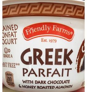 Friendly Farms Greek Parfait with Dark Chocolate & Honey Roasted Almonds