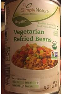 Simply Nature Vegetarian Refried Beans