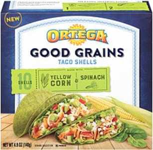 Ortega Ortega Good Grains Yellow Corn & Spinach Taco Shells Good Grains Yellow Corn & Spinach