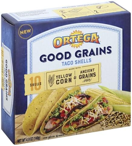 Ortega Yellow Corn & Ancient Grains Taco Shells - 10 ea
