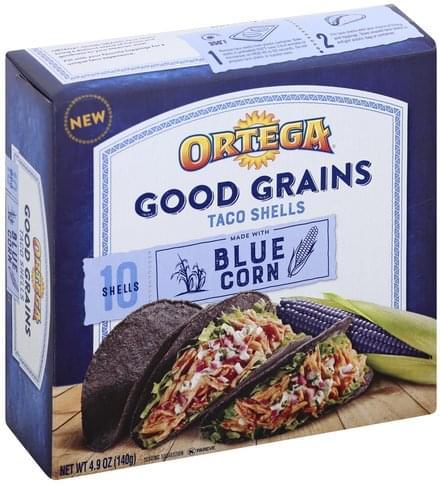Ortega Blue Corn Taco Shells - 10 ea