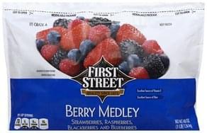 First Street Berry Medley Strawberries, Raspberries, Blackberries and Blueberries