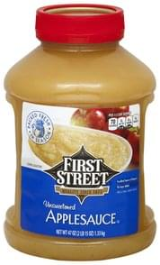 First Street Applesauce Unsweetened