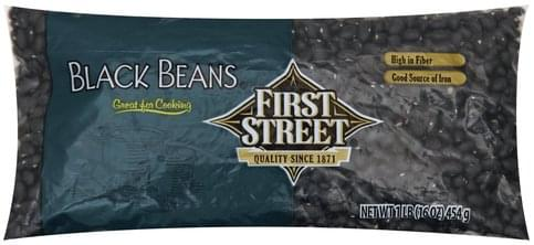 First Street Black Beans - 1 lb