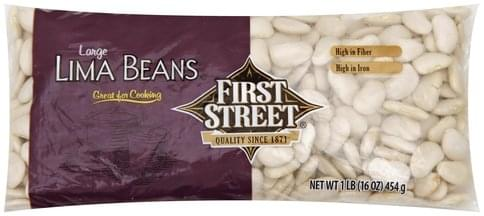 First Street Large Lima Beans - 1 lb