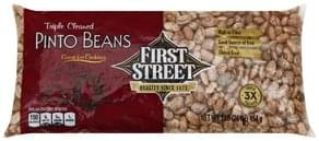 First Street Pinto Beans Triple Cleaned