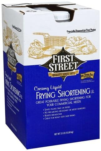 First Street Creamy Liquid Frying Shortening - 35 lb
