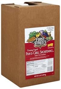 First Street Shortening Pan & Grill, Creamy Liquid