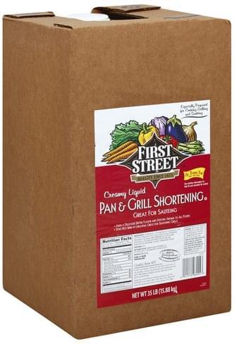 First Street Pan & Grill, Creamy Liquid Shortening - 35 lb