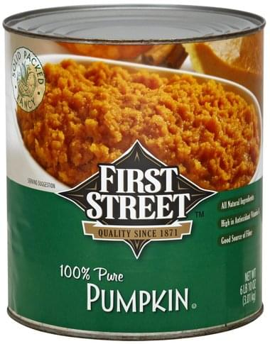 First Street 100% Pure Pumpkin - 106 oz
