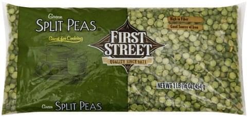 First Street Green Split Peas - 1 lb
