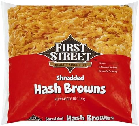 First Street Shredded Hash Browns - 48 oz