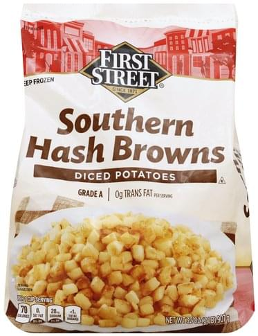 First Street Southern, Diced Potatoes Hash Browns - 32 oz