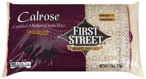 First Street Rice Enriched, Medium Grain, Calrose